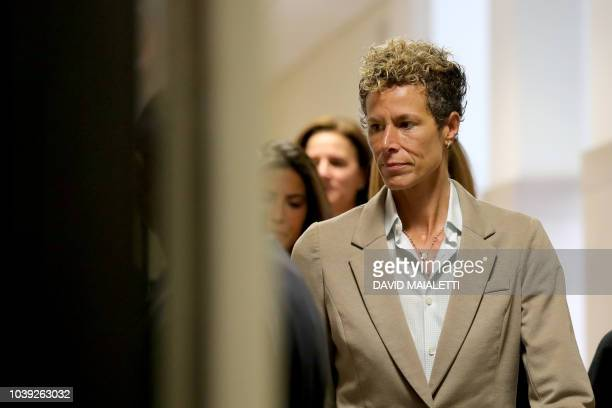 Andrea Constand arrives at the sentencing hearing for the sexual assault trial of entertainer Bill Cosby at the Montgomery County Courthouse in...