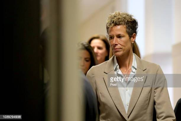 Andrea Constand arrives at the sentencing hearing for the sexual assault trial of entertainer Bill Cosby at the Montgomery County Courthouse...