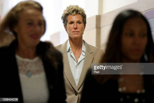 Andrea Constand returns to the courtroom during a lunch break at the sentencing hearing for the sexual assault trial of entertainer Bill Cosby at the...