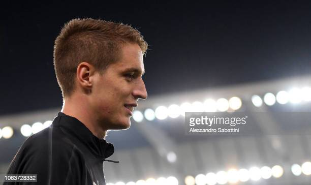 Andrea Conti of AC Milan looks on before the Serie A match between Udinese and AC Milan at Stadio Friuli on November 4 2018 in Udine Italy