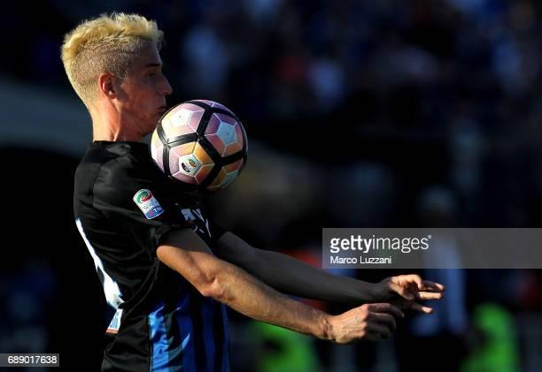 Andrea Conti of Atalanta BC controls the ball during the Serie A match between Atalanta BC and AC ChievoVerona at Stadio Atleti Azzurri d'Italia on...