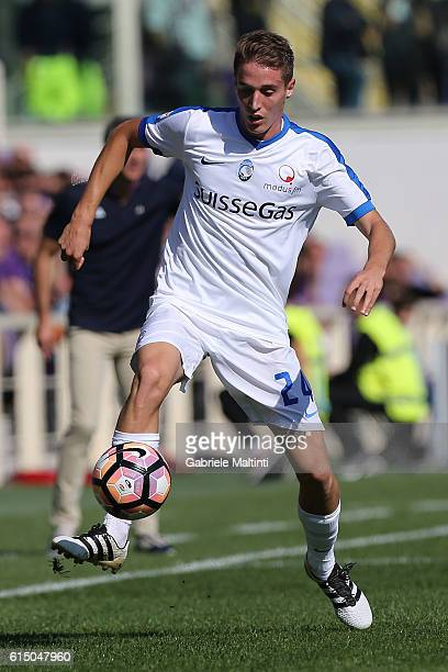 Andrea Conti of Atalanta BC in action during the Serie A match between ACF Fiorentina and Atalanta BC at Stadio Artemio Franchi on October 16 2016 in...