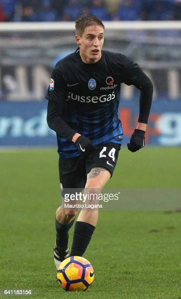 Andrea Conti of Atalanta during the Serie A match between Atalanta BC and Cagliari Calcio at Stadio Atleti Azzurri d'Italia on February 5 2017 in...