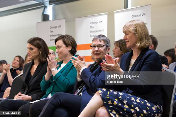 Andrea Cooper Vicky Groulef Ann Coffey MP and Joan Ryan MP at the launch of Change UK The Independent Group's European election campaign at We The...