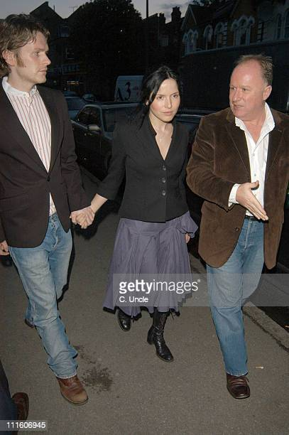 Andrea Corr from The Corrs and her boyfriend actor Shaun Evans during Coldplay Secret Performance Arrivals at Round Chapel Church Hackney in London...
