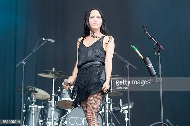 Andrea Corr from the Corrs perfom at the Isle Of Wight Festival 2016 at Seaclose Park on June 11 2016 in Newport Isle of Wight