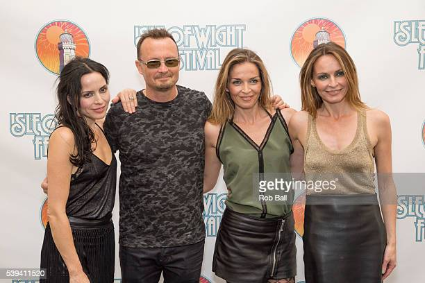 Andrea Corr Jim Corr Caroline Corr and Sharon Corr from Corrs at the Isle Of Wight Festival 2016 at Seaclose Park on June 11 2016 in Newport Isle of...