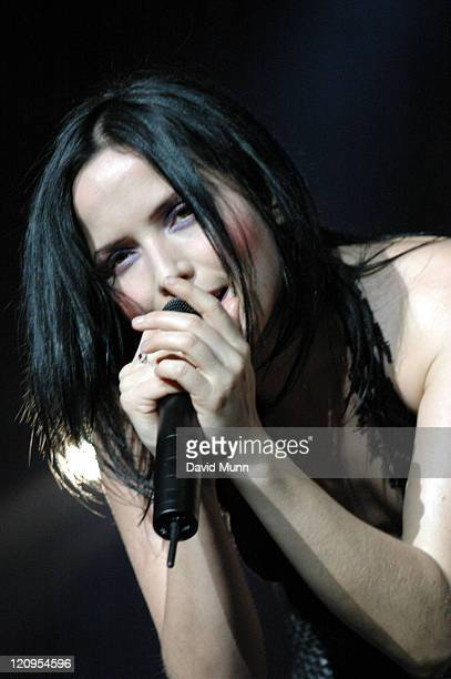 Andrea Corr of The Corrs during The Corrs 'Borrowed Heaven' Tour November 7 2004 at MEN Arena in Manchester Great Britain