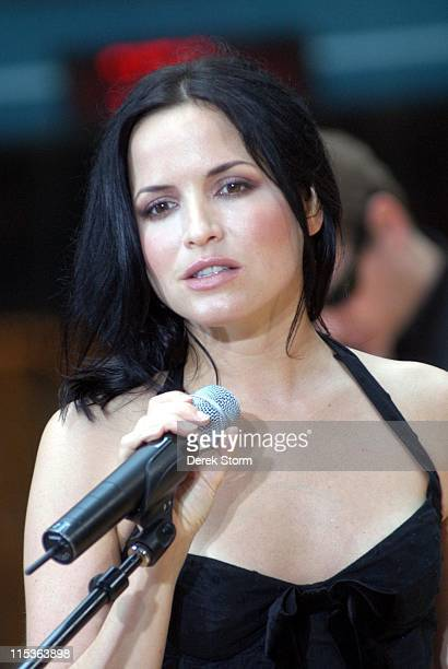 Andrea Corr of The Corrs during The 'Today' Show's 2004 Summer Concert Series The Corrs at Rockefeller Plaza in New York City New York United States