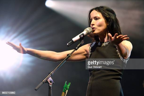 Andrea Corr of The Corrs perform on stage at the Royal Albert Hall on October 19 in London England