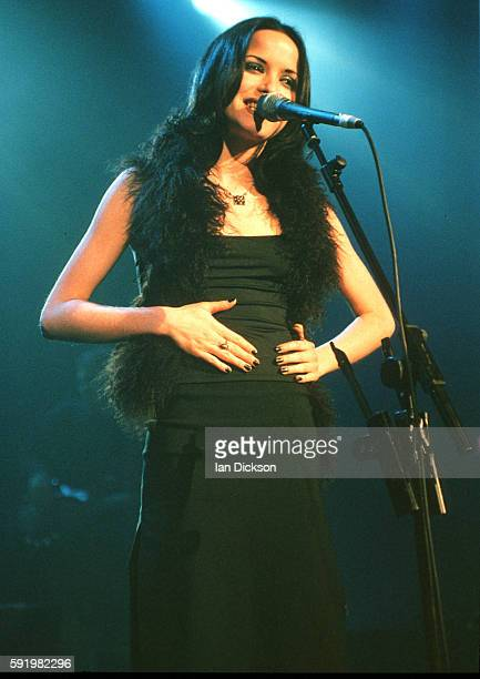 Andrea Corr of The Corrs performing on stage at The Forum Kentish Town London 11 December 1997