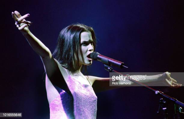 Andrea Corr of The Corrs performs on stage at Ahoy Rotterdam Netherlands 3rd November 2000