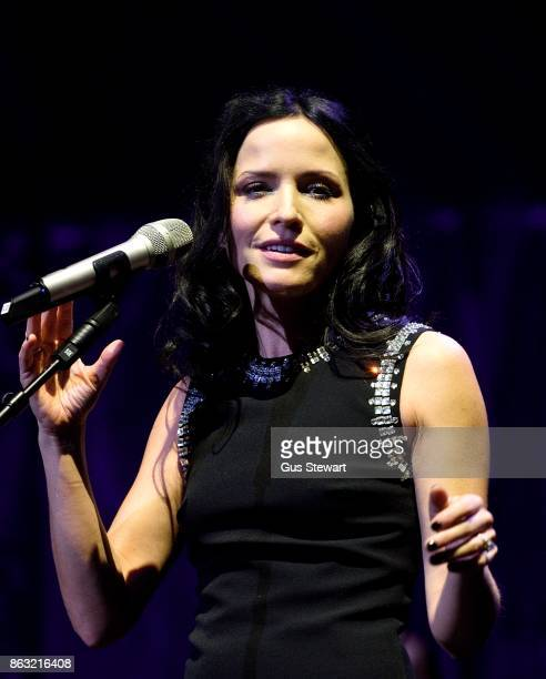 Andrea Corr of The Corrs performs on stage at the Royal Albert Hall on October 19 in London England