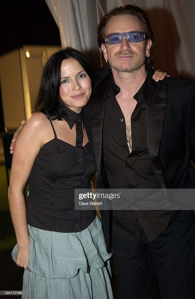 Andrea Corr With Bono (u2), The Stars Of Rock And Roll Join Forces For Nelson Mandela's 46664 Concert In Cape Town, South Africa. In The Pre, Concert Build Up, This Evening A Gala Dinner Was Held At The Vergelegen Estate Outside Cape Town, South Africa Gears Up For Aids Awareness Mandela Concert 46664. The Concert Is In Association With Mtv's Staying Alive & Www.46664.com Powered By Tiscali.