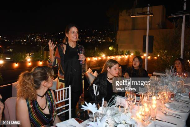 Andrea Corradini attends the Flaunt Magazine Dinner with Nike and Revolve on February 15 2018 in Los Angeles California
