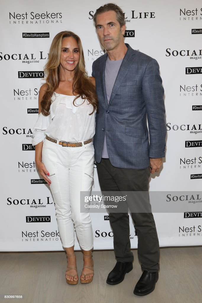 Andrea Correale and Justin Mitchell attend the Social Life Magazine Nest Seekers August Issue Party on August 12, 2017 in Southampton, New York.