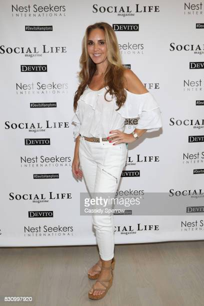 Andrea Correale attends the Social Life Magazine Nest Seekers August Issue Party on August 12 2017 in Southampton New York