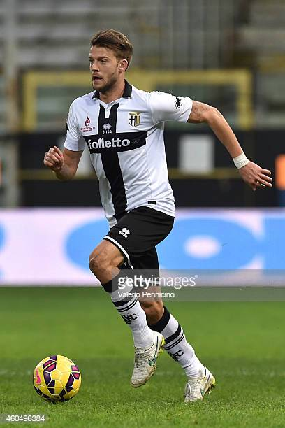Andrea Costa of Parma FC in action during the Serie A match between Parma FC and SS Lazio at Stadio Ennio Tardini on December 7 2014 in Parma Italy