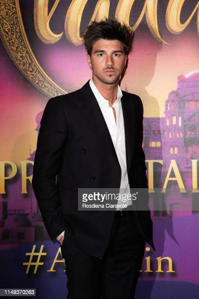Andrea Damante attends the Aladdin photocall and red carpet at The Space Cinema Odeon on May 15 2019 in Milan Italy