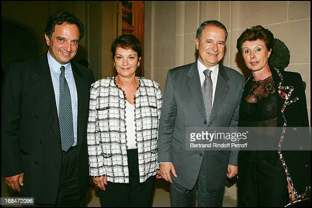 Andrea D'Avack Francoise Montenay Sergio Amaral MarieLouise de ClermontTonnerre at Opening Night Of The Play Mademoiselle Chanel' In Paris