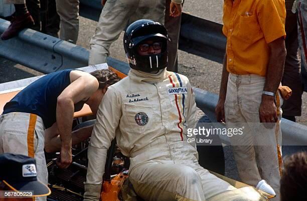 Andrea de Adamich closeup Dutch GP Zandvoort 21st June 1970