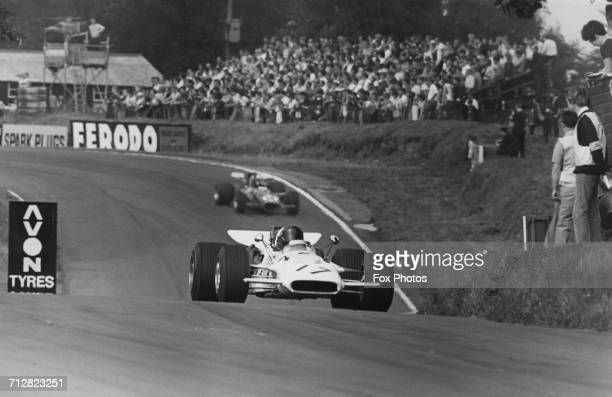 Andrea de Adamich of Italy drives the Surtees TS5 Chevrolet Formula 5000 through Deer Leap during the Guards International Gold Cup for Formula One...