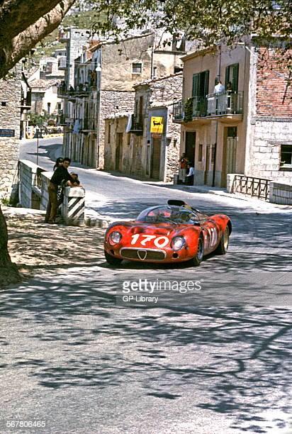 Andrea de AdamichJean Rolland's Alfa Romeo T33 racing in the Targa Florio Sicily 1967