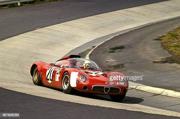 Andrea de AdamichNanni Galli's Alfa Romeo T33 at the Karussel in the Nurburgring 1000Kms race Germany 28 May 1967