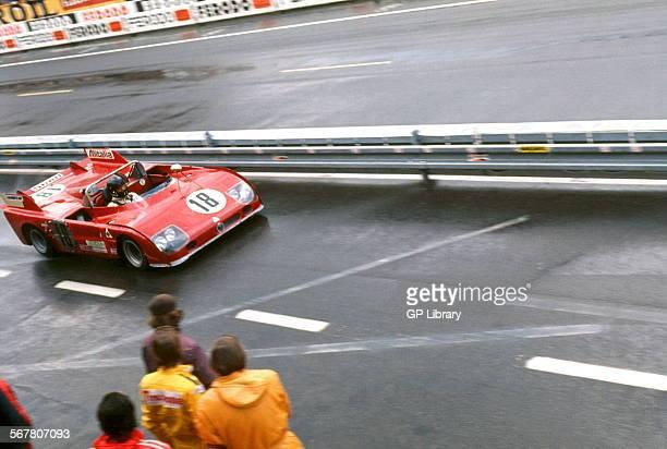 Andrea de AdamichNino Vaccarella's Alfa Romeo T33TT3 Autodelta SPA Finished 4th Le Mans France 11 June 1972