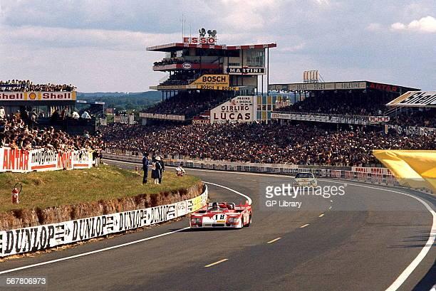 Andrea de AdamichNino Vaccarella's Alfa Romeo T33TT3 finished 4th at Le Mans France 11 June 1972