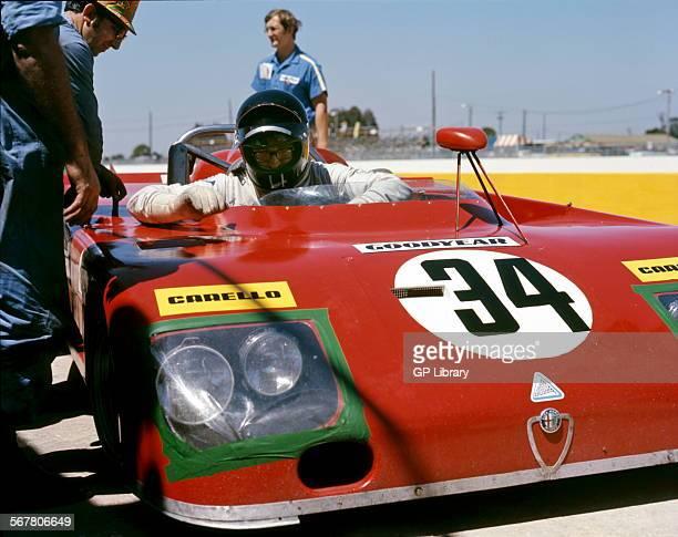 Andrea de Adamich's Alfa Romeo T33 at Daytona USA 4 Feb 1973