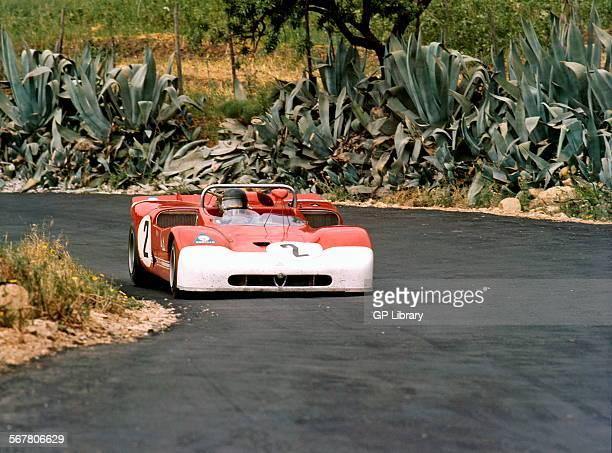 Andrea de Adamich's Alfa Romeo T33 in the Targa Florio Sicily 16 May 1971