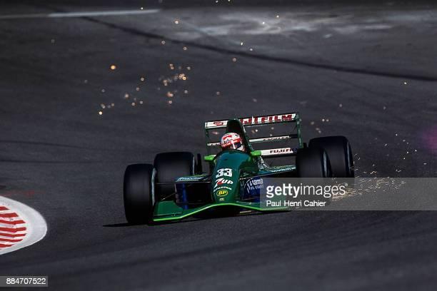 Andrea de Cesaris JordanFord 191 Grand Prix of Belgium Circuit de SpaFrancorchamps 25 August 1991 Andrea de Cesaris at full speed through the famous...