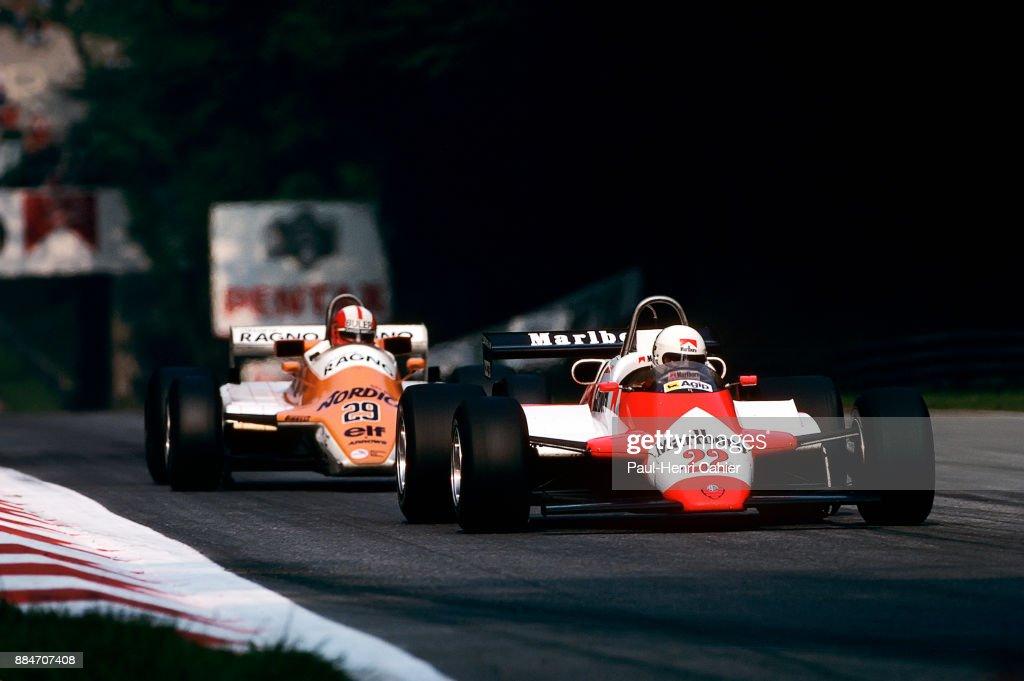 Andrea de Cesaris, Marc Surer, Grand Prix Of Italy : News Photo