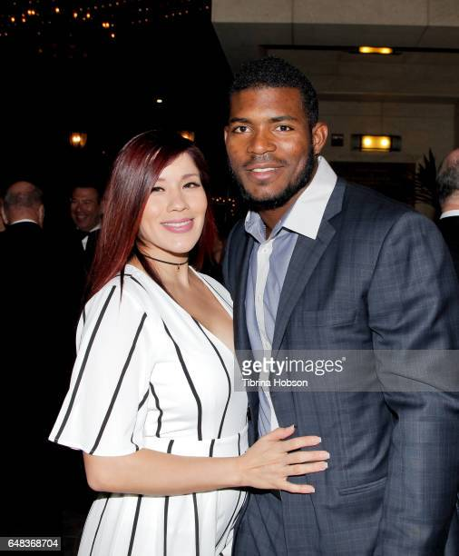 Andrea De La Torre and Yasiel Puig attend Shane's Inspiration 'A Night In Old Havana' Gala at Taglyan Complex on March 4 2017 in Los Angeles...