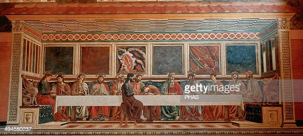Andrea del Castagno Italian painter from Florence The Last Supper Fresco Church of Sant'Apollonia Florence Italy