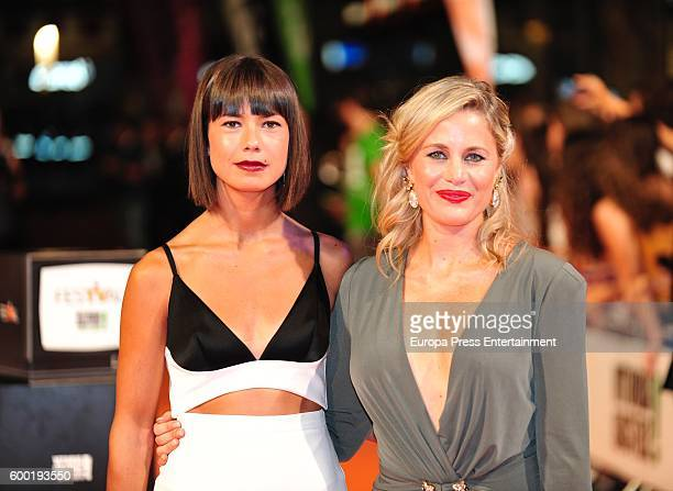 Andrea del Rio and Lisi Linder attend 'Mar de Plastico' premiere at Principal Theater during FesTVal 2016 Televison Festival on September 7 2016 in...