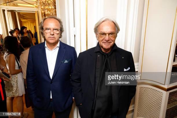 Andrea Della Valle and Diego Della Valle attend the Schiaparelli Cocktail to celebrate Daniel Roseberry first Haute Couture Collection as part of...