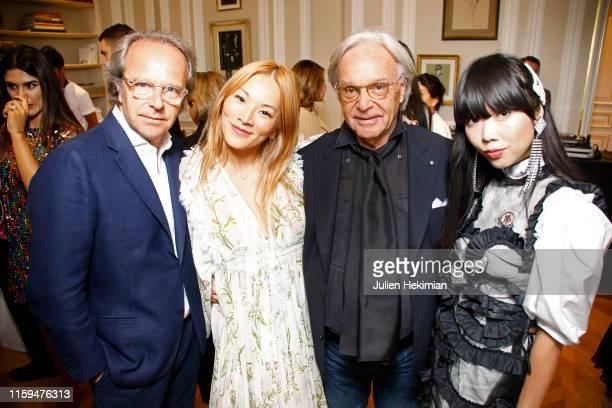 Andrea Della Valle Guest Diego Della Valle and Susanna Lau attend the Schiaparelli Cocktail to celebrate Daniel Roseberry first Haute Couture...