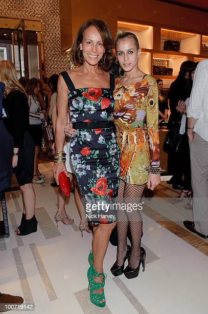 Andrea Dellal and Alice Dellal attend the launch of the Louis Vuitton Bond Street Maison on May 25 2010 in London England