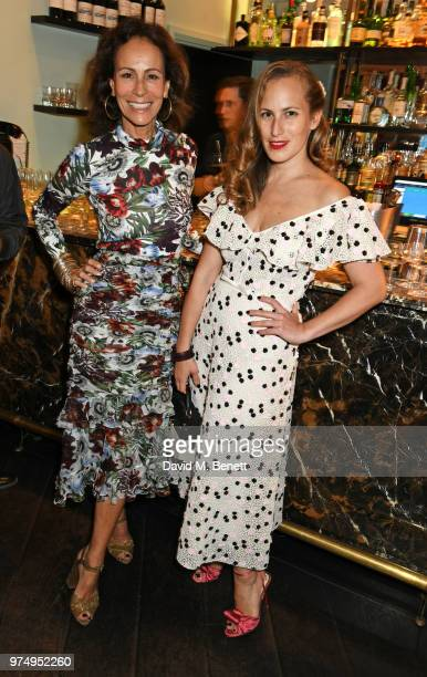 Andrea Dellal and Charlotte Dellal attend a private dinner hosted by Edward Enninful in honour of Giambattista Valli to celebrate the opening of his...