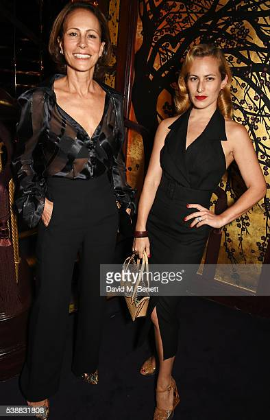 Andrea Dellal and Charlotte Dellal attend Zac Posen's dinner to celebrate his first women's collection for Brooks Brothers at Loulou's on June 8 2016...