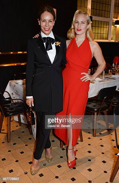 Andrea Dellal and Charlotte Olympia Dellal attend the Charlotte Olympia 'Handbags for the Leading Lady' launch dinner at Toto's Restaurant on October...