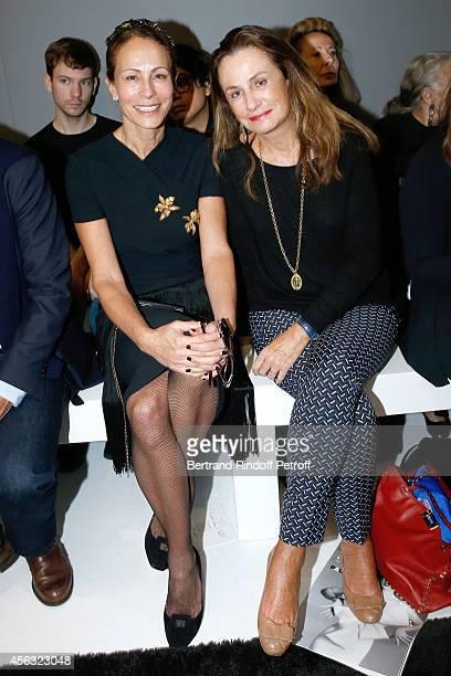 Andrea Dellal and Countess Georgina Brandolini d'Adda attend the Giambattista Valli show as part of the Paris Fashion Week Womenswear Spring/Summer...