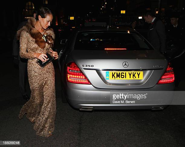 Andrea Dellal arrives at the MercedesBenz arrivals for Harper's Bazaar Women of the Year awards at Claridge's Hotel on October 31 2012 in London...