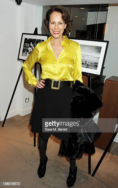 Andrea Dellal attends a private viewing of Gaucho a photographic exhibition by Astrid Munoz at the JaegerLeCoultre Boutique on January 31 2012 in...