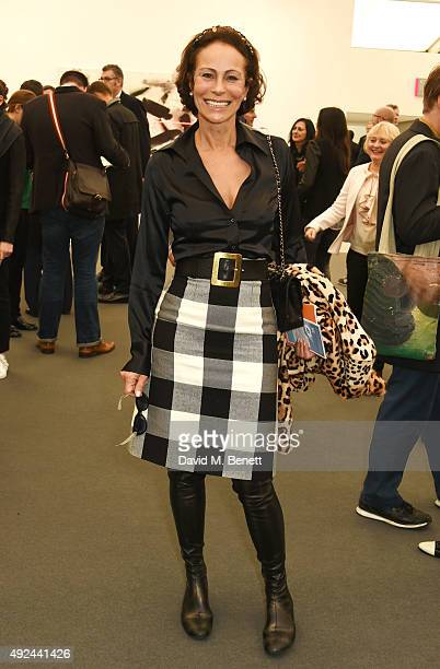 Andrea Dellal attends a VIP preview of the Frieze Art Fair 2015 in Regent's Park on October 13 2015 in London England