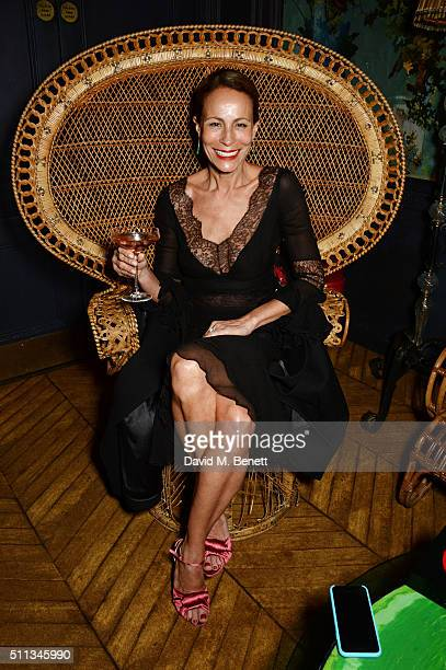 Andrea Dellal attends as James Gager Senior Vice President Group Creative Director of MAC Cosmetics and Charlotte Olympia Dellal host a dazzling...
