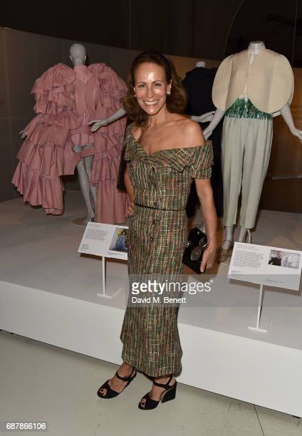 Andrea Dellal attends Balenciaga Shaping Fashion VIP Preview sponsored by American Express at Victoria and Albert Museum on May 24 2017 in London...