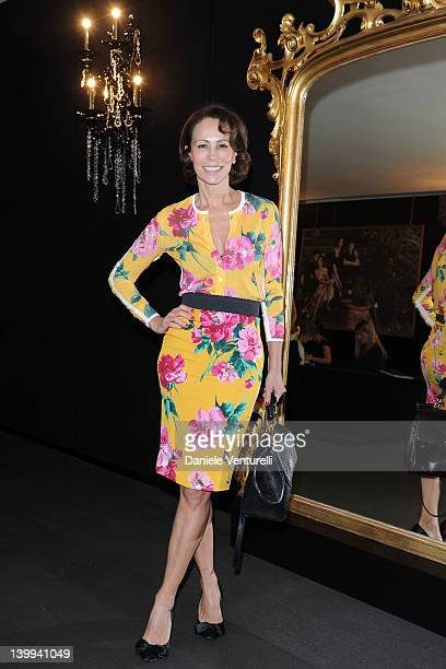 Andrea Dellal attends Dolce Gabbana VIP Room at the Metropol during Milan Womenswear Fashion Week on February 26 2012 in Milan Italy